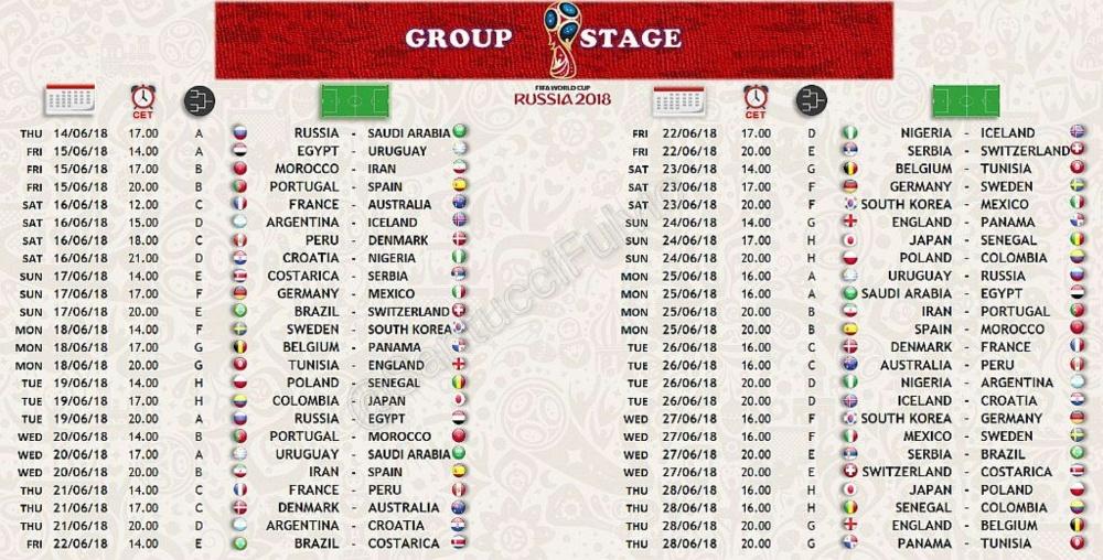 Mondiali Russia Calendario.Mondiali Di Calcio Gli Orari Della Fase Eliminatoria